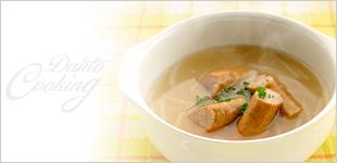 ソーセージの断糖スープ