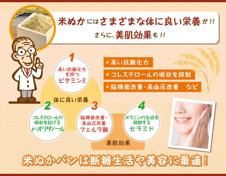 米ぬかにはさまざまな体に良い栄養が!!さらに、美肌効果も!!