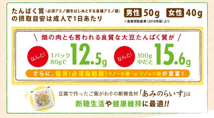 豆腐で作ったご飯がわりの断糖食材「あみのらいす」は断糖生活や健康維持に最適!!