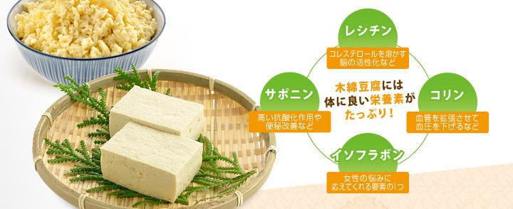 木綿豆腐には体に良い栄養素がたっぷり!!