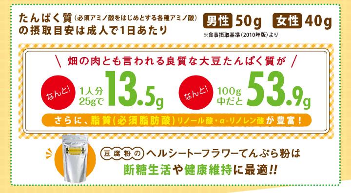豆腐粉のヘルシートーフラワーてんぷら粉は断糖生活や健康維持に最適!!